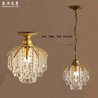 Crystal Pendant Lamp Small Lighting For Hallway And Dining Room Coffee Light