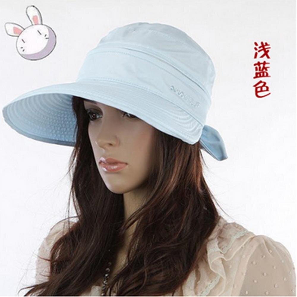 mode lebar bimmed besar busana wanita topi pantai musim panas matahari ikatan simpul hot sale