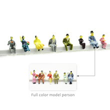 50PCS HO scale 1/87 all seated model railway people sitting figures scenery making