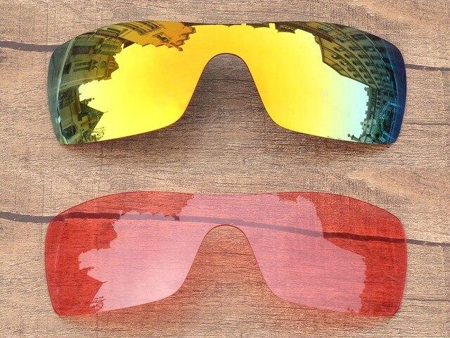 Fire Red   Rosa De Cristal 2 Peças de Substituição de Lentes Para óculos de  Sol 9fb44f76fa