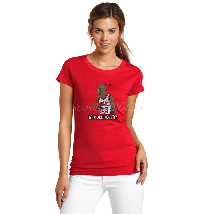 1bc99aecf94 Women What Are Those? #23 Michael Jordan T Shirt Lady Clothes basketballing  gods legend Comic Cartoon T Shirt Girl W0227005-in T-Shirts from Women's ...