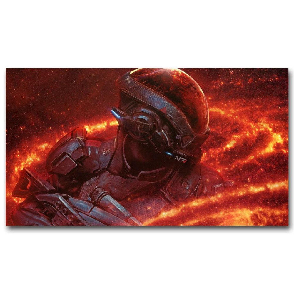 1221A Mass Effect 4 Game Fire-Wall Sticker Silk Poster Light Canvas Decoration image