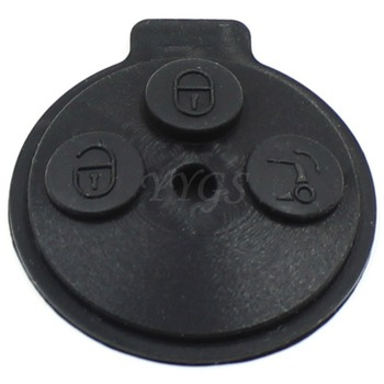 50pcs 3 Buttons Smart Key Rubber Button For Benz Pad /Car Key Fob Shell Blank key shell fob cover Silica Gel