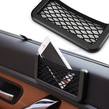 Black Car Auto String Mesh Bag Storage Pouch For Cellphone Gadget Cigarette New Jy22 19 dropship image