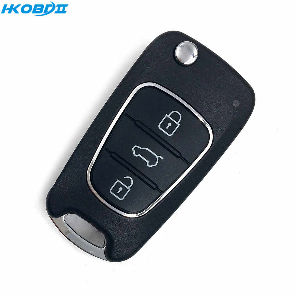 HKOBDII 1 Piece 3 Buttons Universal VVDI2 Car Key Remote for Xhorse VVDI Key Tool English Version for Hyundai Style