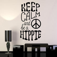 BLINGIRD Quote Hippie Peace Love Wall Decal Wall Stickers