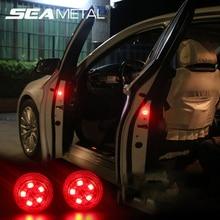 Двери автомобиля Сигнальные огни сигнальный проблесковый фонарь дверной светодиодный светильник сигнал мигающие лампочки универсальный для авто украшения лампы Автомобильные товары Аксессуары