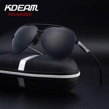 KDEAM Eyewear High quality Men Sunglasses Pilot HD Polarized mirror lens Alloy frame 6 Colors Women oculos de sol feminino UV400