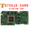 G750JH Ver 60NB0180 VG1040 69N0PCV10D00 01 GTX 780M GTX780M GDDR5 3GB VGA Video Card For Asus