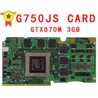 G750JH Ver 60NB0180 VG1040 69N0PCV10D00 01 GTX 870M GTX870M GDDR5 3GB VGA Video Card For Asus