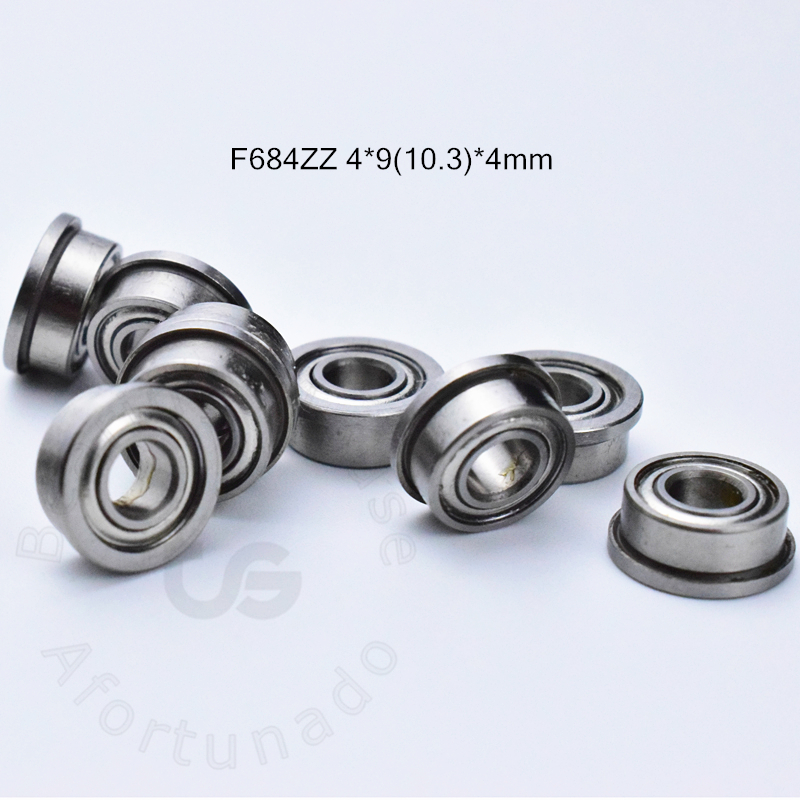F684ZZ 4*9(10.3)*4mm 10pieces bearing free shipping ABEC-5 Flange bearings 684 F684 F684Z chrome ste