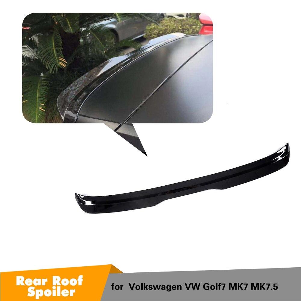 For Volkswagen VW GOLF MK7 VII 7 7.5 Rline 2014 - 2019 ABS Rear Roof Window Spoiler Wing Boot LipFor Volkswagen VW GOLF MK7 VII 7 7.5 Rline 2014 - 2019 ABS Rear Roof Window Spoiler Wing Boot Lip
