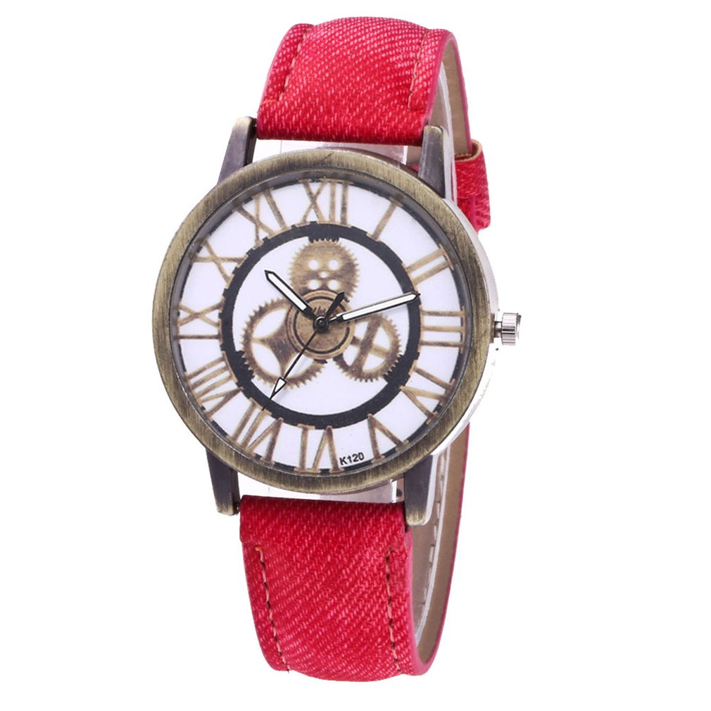 Realistic Genboli High-quality Brand New K105-k120 Ladies Denim Quartz Watch Fashionable Popular Nice Sweety Gift 2018 Women's Watches