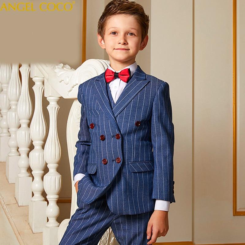 Zweireiher Anzug Klavier Wettbewerb Kostüm Kinder Abendkleid Anzüge & Blazer Jungen Anzüge Für Hochzeiten Kostüm Garcon Mutter & Kinder Jungen Kleidung