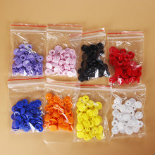 10 Sets(40pcs) Round Resin Snap Buttons Plastic Snaps Fasteners Press Studs Size T5 Caps For Clothes Shirts Sewing Accessories(China)
