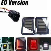 1 пара светодиодные задние свет тормоз включить сигнал обратного 07 16 для Jeep Wrangler JK светодиодные задние фонари замена Задние фонари тормоза Л