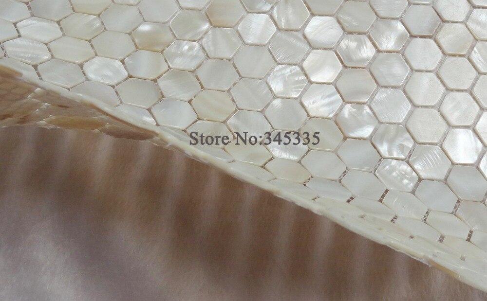 Hexagon Tegels Wit : Stks wit hexagon shell mozaïek tegel parelmoer keuken douche