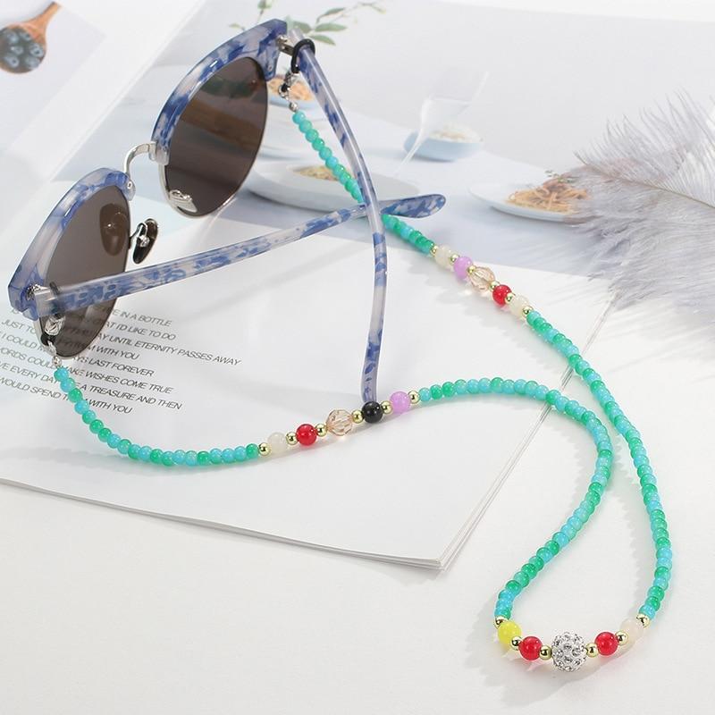 Occhiali Occhiali da Band//collana con perle di vetro