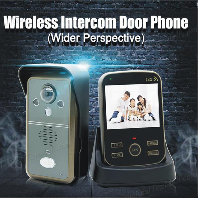 Wireless Intercom Door Phone Video Wireless Peephole Video DoorPhone Smart Home Video Intercom Doorbell System d114b smart home 1v2 wireless intercom one to two video door phone 2 4g digital pir detection video door peephole camera