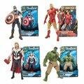 1 pcs Super-heróis Marvel Os Vingadores Capitão América Hulk Homem De Ferro Thor Figura de Ação DO PVC Brinquedos Coleção de Bonecas Com OPP saco