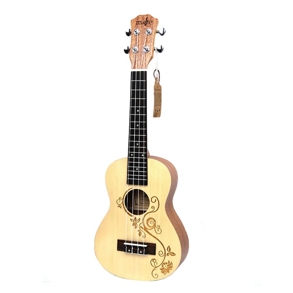 Нейлоновая 4 струнная концертная банджо 26 дюймов Уке укулеле бас гитара ra для музыкальных струнных инструментов подарок для влюбленных - 2