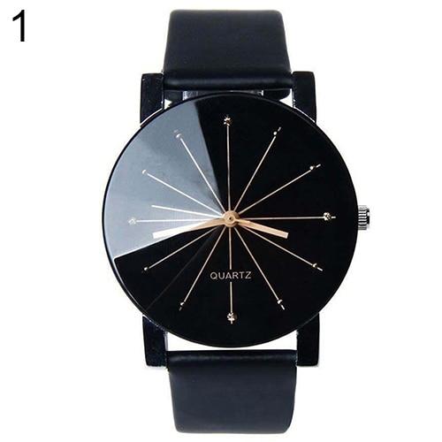 Hot Men Women Fashion Stainless Steel Faux Leather Quartz Sports Dress Wrist Watch AJUK faux leather quartz wrist watch