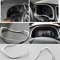 Newest Fit For 2015 2016 HYUNDAI TUCSON TL Chrome Instrument Gauge Panel Chorme Cover Trim Accent Bezel Frame Car Accessories
