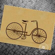 HD envío gratis bicicleta Vintage pintura retro estampado pintura poster clásico arte de pared pegatina dormitorio Sala decoración 42x30cm