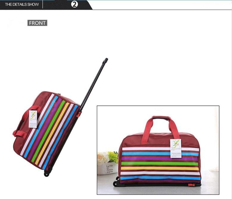 """Оптова торгівля! Високоякісна корея мода стилю подорожі багаж сумки на колесо для жінок, 20 """"подорожі duffle сумки для жінок, 9 кольорів  t"""