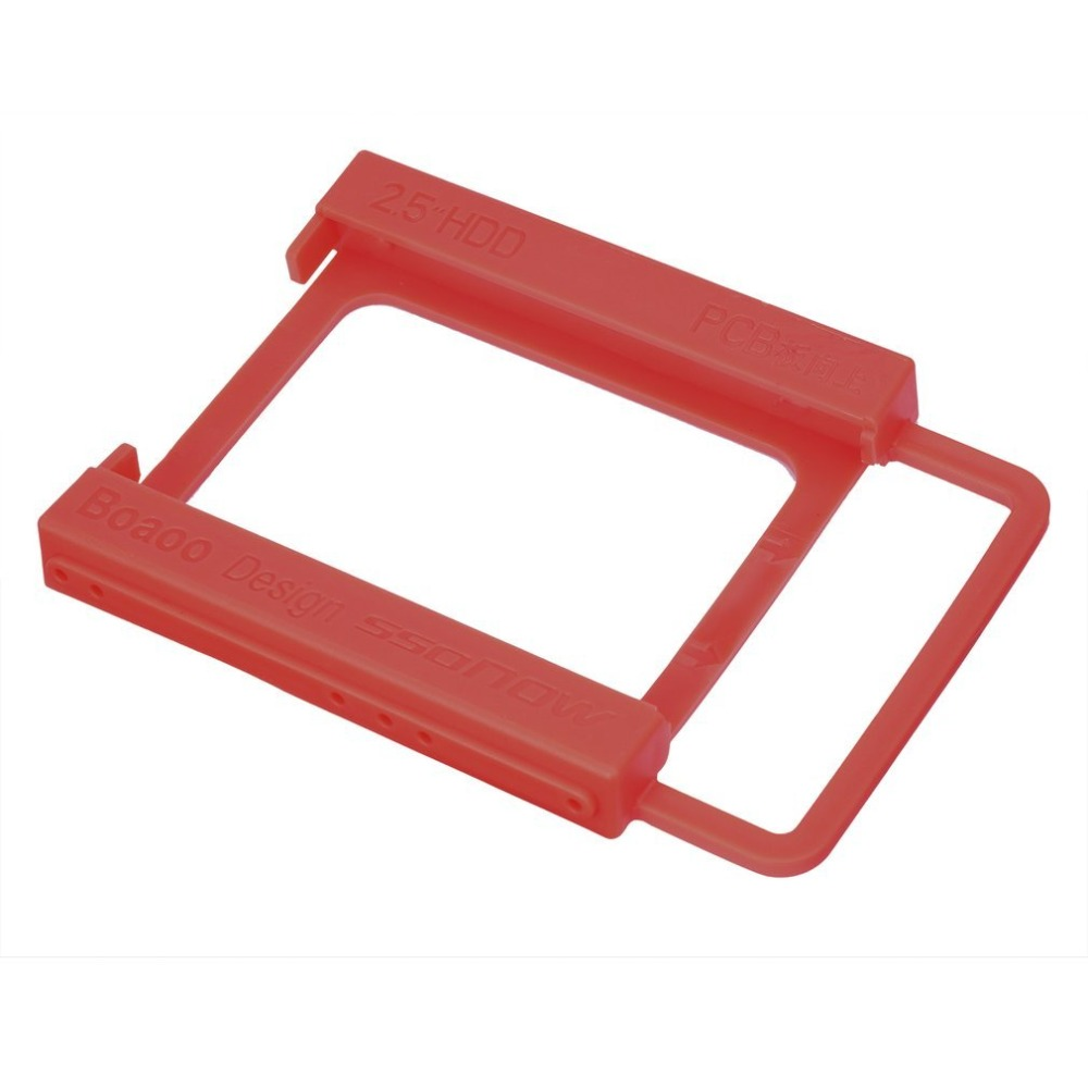 2.5 To 3.5 Inch SSD HDD Notebook Hard Disk Drive Mounting Rail Adapter Bracket Holder With Screws Red