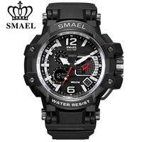 SMAEL S Shock Men Military Outdoor Sports Watches Digital LED Dual Display Quartz Wrist Watch Man
