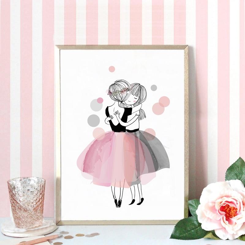 Акварель дівчата полотно мистецтва - Домашній декор - фото 3