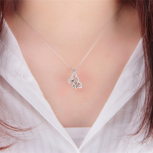Image 5 - CLUCI 3pcs 925 Sterling Silver Zircon Butterfly Charms Pendant Silver 925 Pendant for Women Mothers Day Gift Jewelry SC359SB