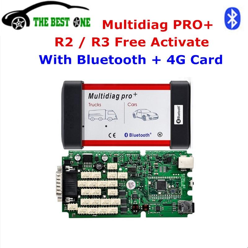 Цена за 2017 лучшее качество multidiag Pro Bluetooth с одной pcb 2014. R2 Keygen + 4 г TF для автомобиля грузовик диагностический инструмент бесплатная доставка