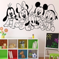 Cartoon Baby Characters Mickey Mouse Vinyl Sticker Wall Art Decor Children S Kids Room Ideas Room