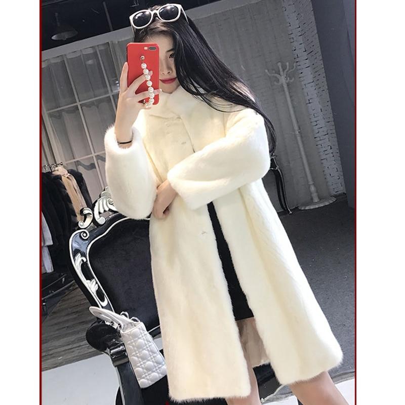 cream Veste Dame black D'hiver Longue L'eau De Des Imitation Artificielle White Color H15 En Fourrure Section gray 2018 Femmes Nouvelle Manteau Laine Peluche 1PgqHaH