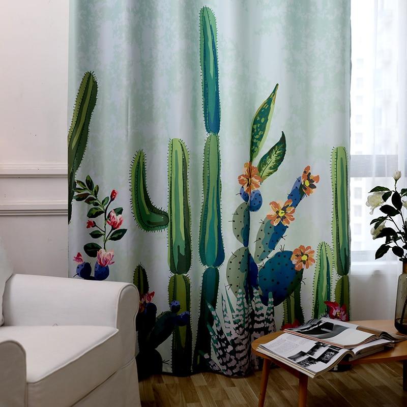 Müasir Kaktus Bitkisi Çap olunmuş Uşaq pərdələri Pəncərə - Ev tekstil - Fotoqrafiya 3