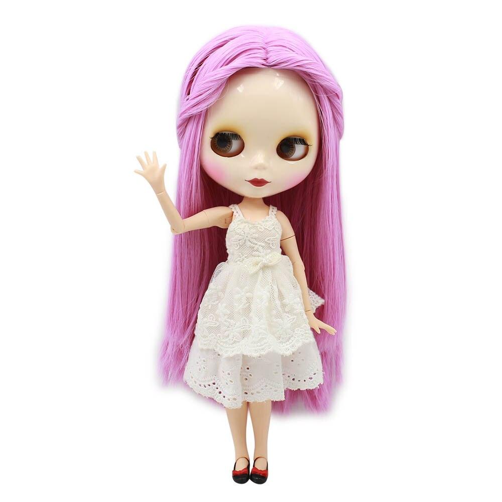 TAN skin tone Blyth nude doll light pink straight soft
