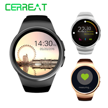 Hot KW18 Bluetooth Smart Watch Support SIM TF Card Smartwatch Clock Heart Rate Fitness Wristwatch for Apple Android Phone