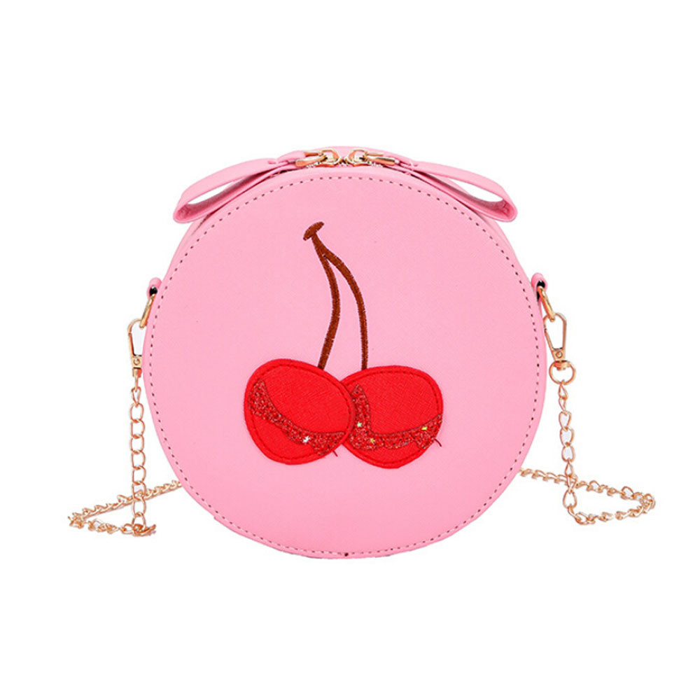 Cute Cherry pattern handbags Round Women Bag Messenger Bags Crossbody Bags S Mini Shoulder Bags High Quality bolsos 2018