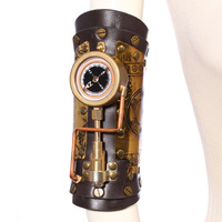 Steam Punk Steampunk Outdoor Compass Leather Arm Ring Halloween Wear Precision Instruments Cosplay Props