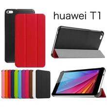 ocube Ultra Slim Folio Stand Tri-fold Custer PU Flip Leather Case Cover For Huawei MediaPad T1 7.0 Honor Play T1-701u Tablet