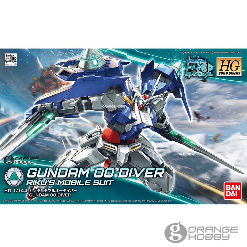 OHS Bandai HG Build Divers 000 1/144 Gundam 00 Diver Riku's Mobile Suit Assembly Model Kits