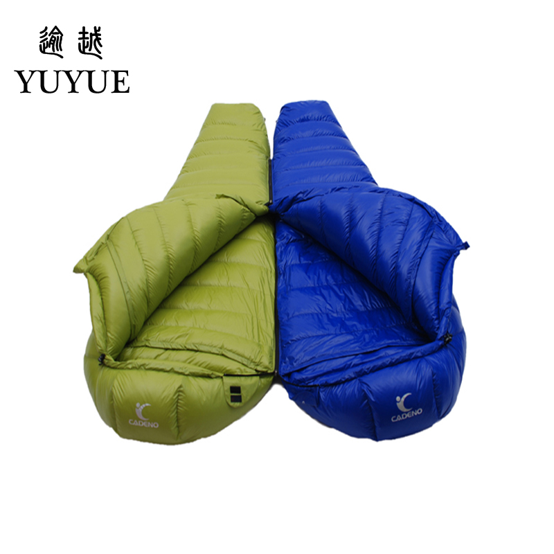 2000g Adult Mummy Sleeping Bag Down Winter For Camping Equipment Tent Waterproof Teaproof Nylon Sleeping Bags For Lovers Air Bed 5