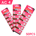 49%off Sale 50 Pcs (5cards)  1.55v AG4/377A /626A/CX66W button cell battery alkaline button battery in retail pack 40