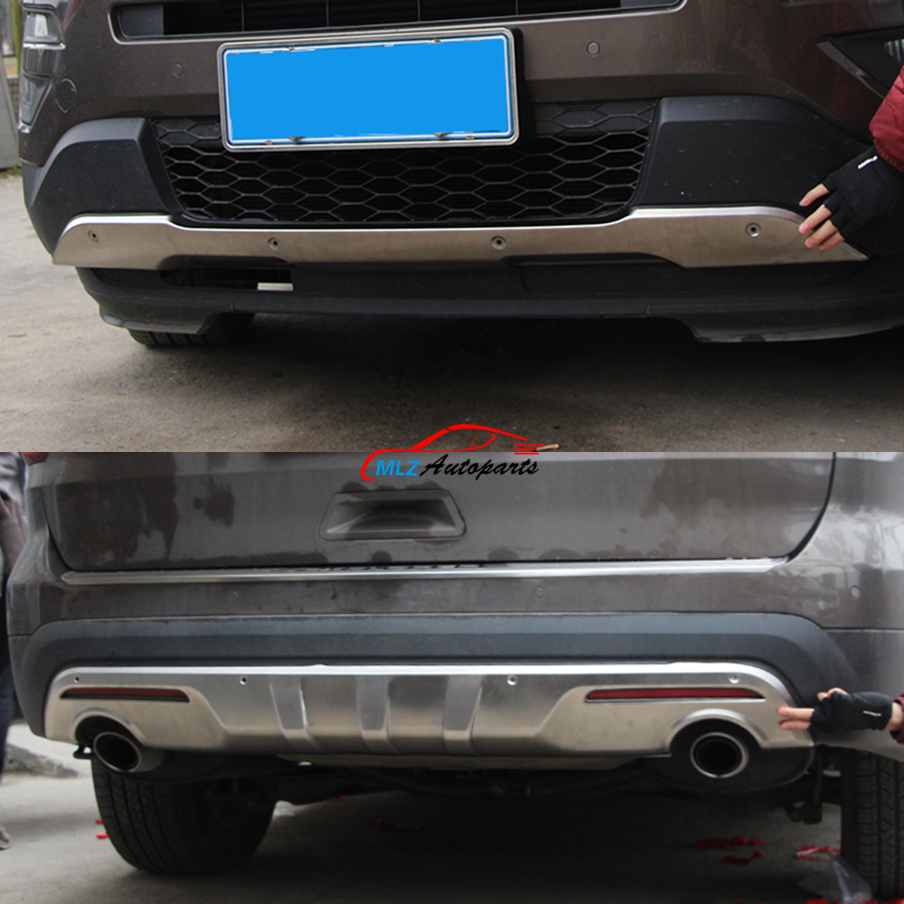 For ford explorer facelift 2016 2017 car front rear bumper guard skid plate protector cover