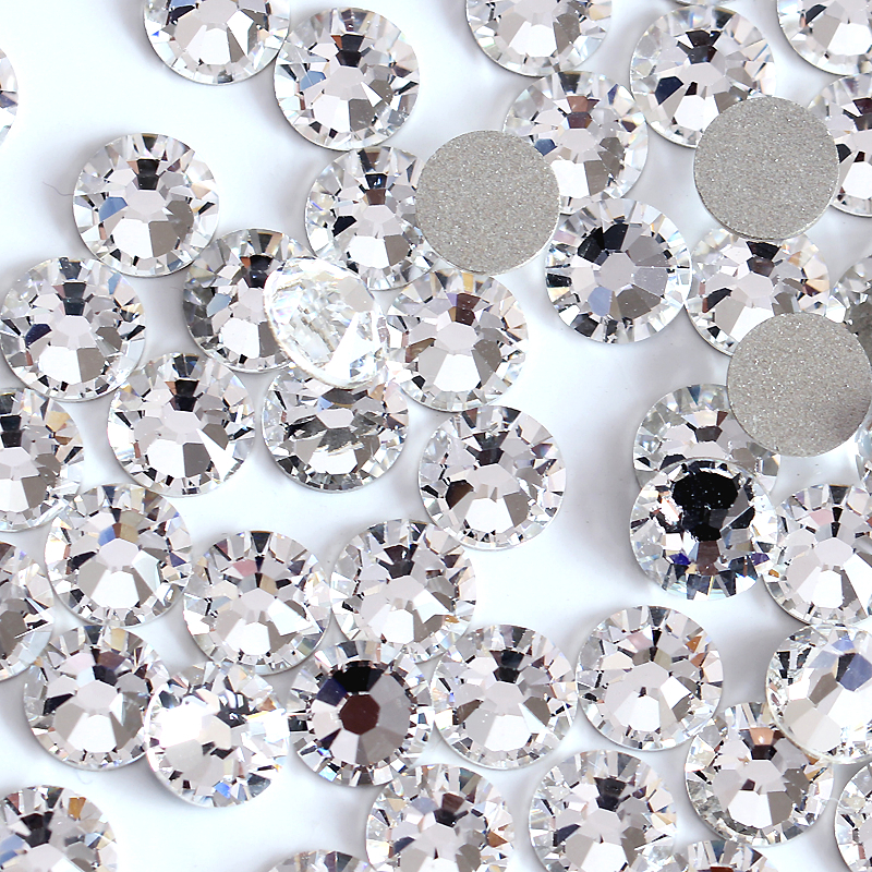 Small Size Nail Art Rhinestone Crystal SS3-SS50 Flatback Clear Non Hot Fix  Rhinestones Glue 9e6eb25121c5