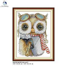 Cute Owl Aida Cross-stitch kits, DIY Handmade Cross