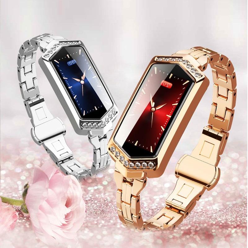2019 Nouveau Luxe montre féminine Multifonction montres intelligentes Femme Top Marque GPS montre de sport Dames Étanche Horloge Chaude de Fréquence Cardiaque