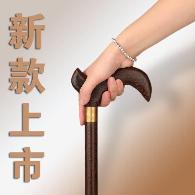 Productos de madera del ala de pollo para la edad rosewood muletas principal de madera maciza palo muletas mano vieja guerra letras